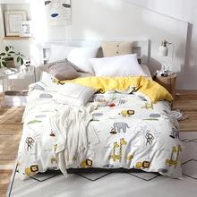 Мультяшный детский хлопковый пододеяльник одеяло С Рисунком Слона/одеяло чехол на молнии Полный queen King двойной один размер