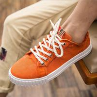 2017 Summer Men Casual Shoes Classic Canvas Shoes Men Lace Up Flat Fashion Retro Youth White