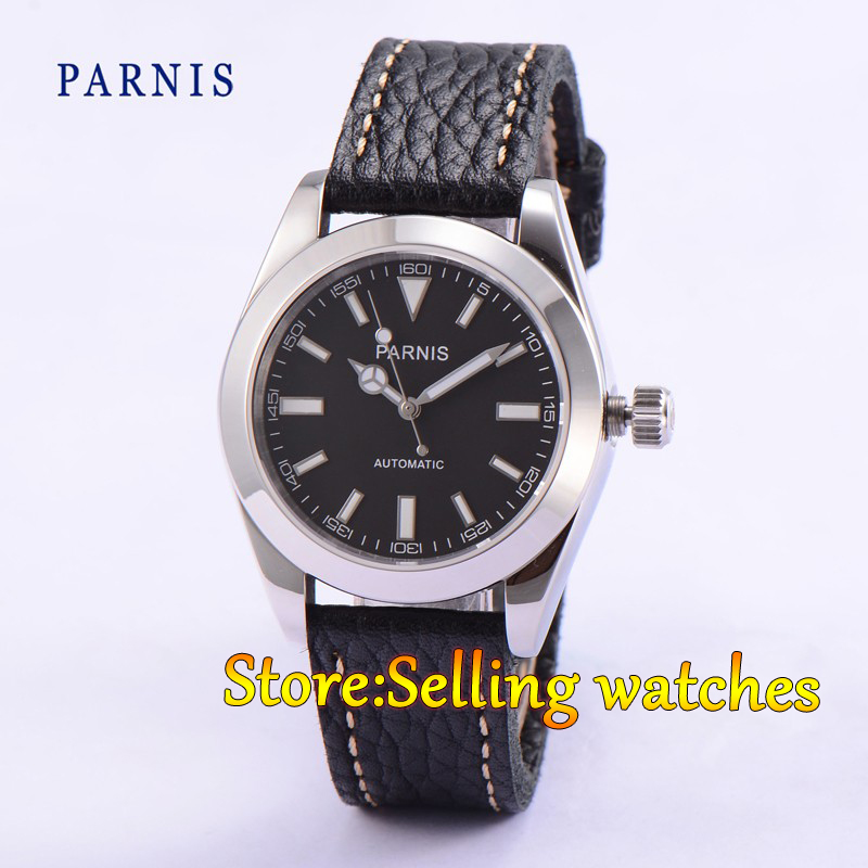 40mm Parnis Casual Sapphire Crystal Black Dial Men Automatic MIYOTA Movement Watch artevaluce светильник подвесной cage filament 15х24 см