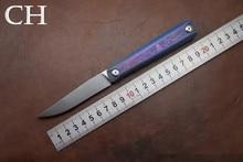 De Calidad SUPERIOR CH ZIEBR ZDP189 Cuchilla cuchillo plegable mango de titanio EDC táctico de la supervivencia del cuchillo de bolsillo del cuchillo que acampa al aire libre