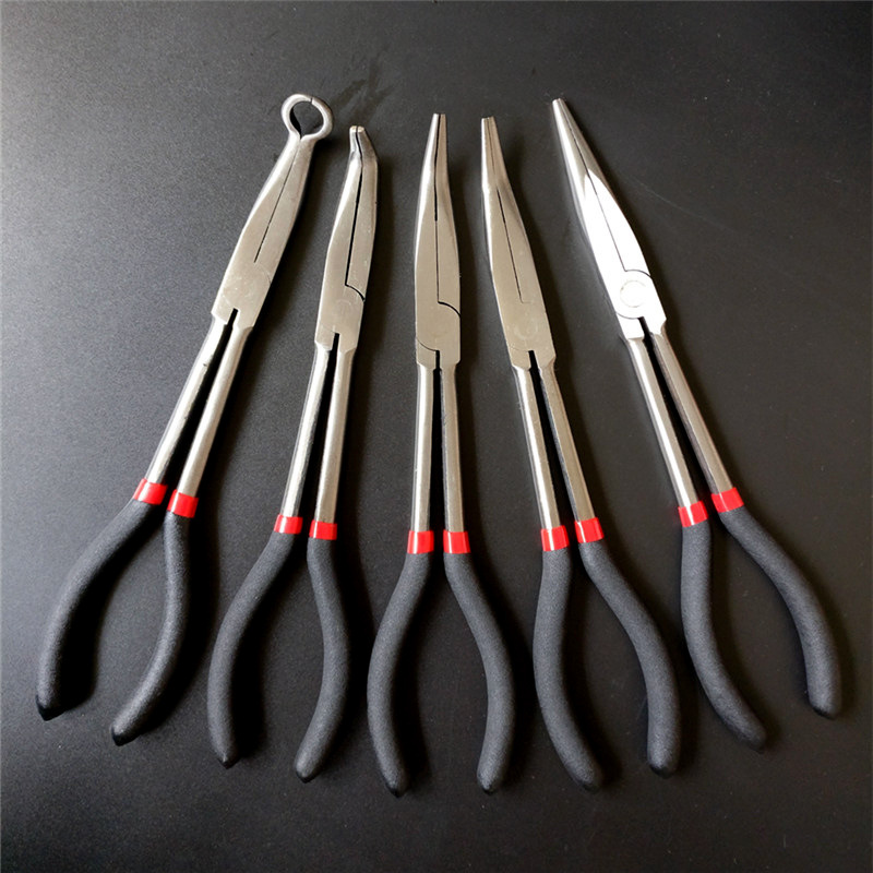 "11"" 280mm Long Handle Multi-functional Reach Circle Nose Pliers Plug Puller"