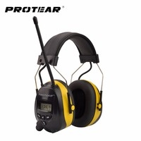 NRR 25dB Electronic Hearing Protector With AM FM Radio Ear Muff Electronic Ear Protection For Shooting