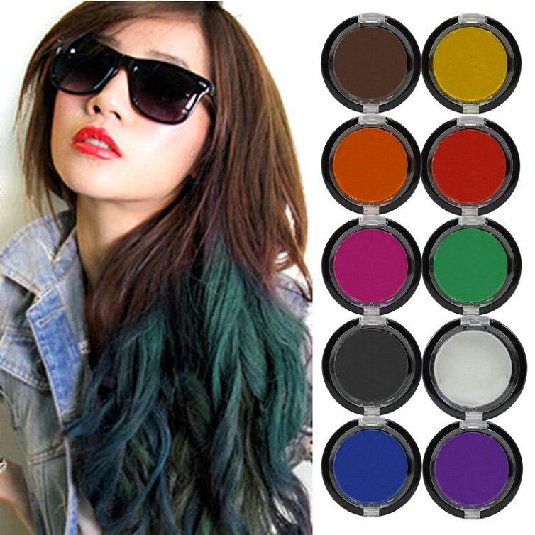 10 pcs multi couleurs mode non toxique temporaire salon afficher parti cheveux craie couleur colorant - Coloration Cheveux Craie