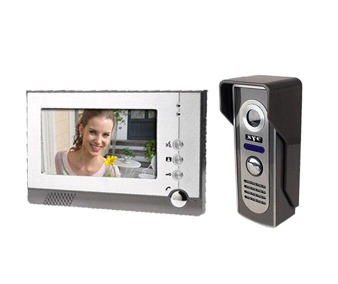 Yobang безопасности 7 TFT ЖК-дисплей Цвет видео домофон, домофона Дверные звонки двери Камера комплект, ИК Камера с Ночное видение