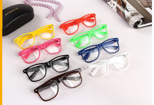 Wholesale Lot Clear Lens Glasses Assorted Colored Frame Fashion Glasses Nerdy Party Glasses Party Supplies for Goodie Bags Favor