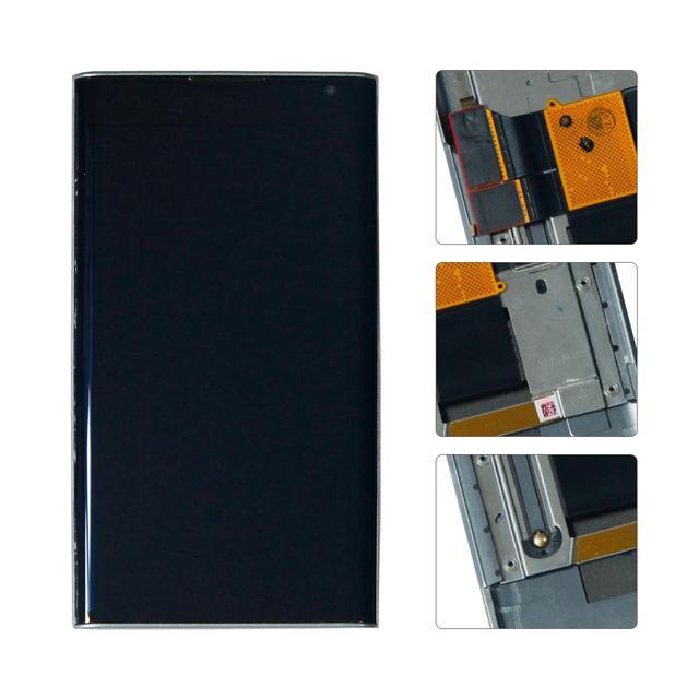블랙 베리 priv STV100 1/2/3/4 lcd 디스플레이 터치 스크린 디지타이저 어셈블리 (프레임 포함)