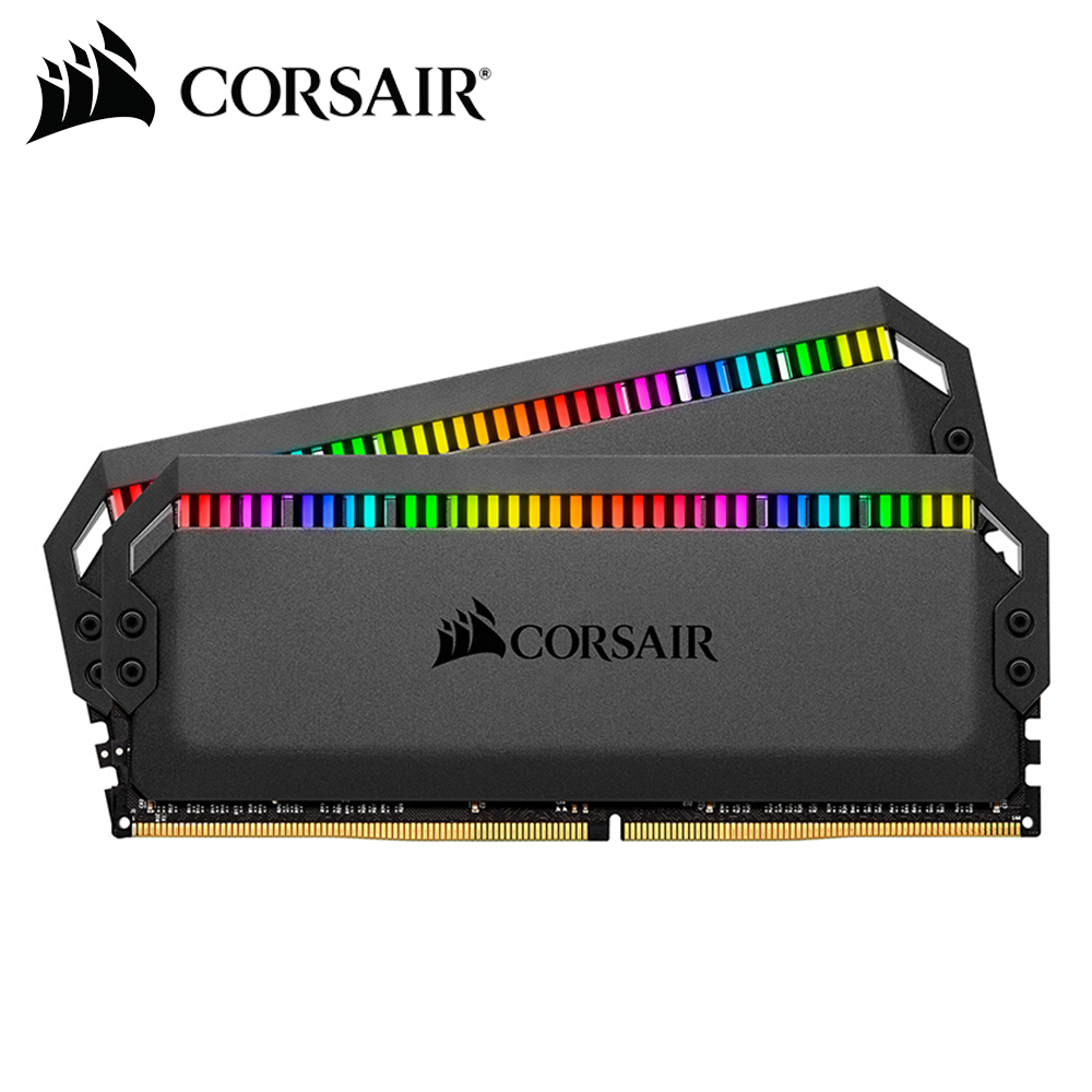 Corsair Dominator Platinum Airflow RGB LED Memory <font><b>Memoria</b></font> <font><b>RAM</b></font> <font><b>DDR4</b></font> 2*8GB DRAM 3000MHz <font><b>3200MHz</b></font> 3600MHz For Desktop image