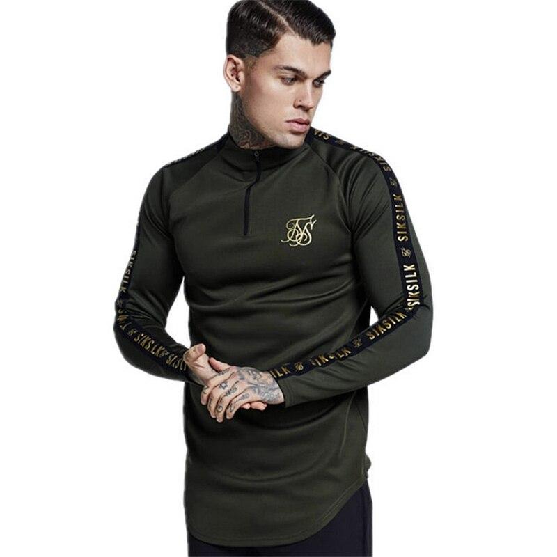 Spain   Shirts   Men Sik Silk   T     Shirt   Men Hip Hop Streetwear Tees TopS Gyms Man's   Shirt   Fitness Sweatshirt Sikslik Male   T  -  shirt
