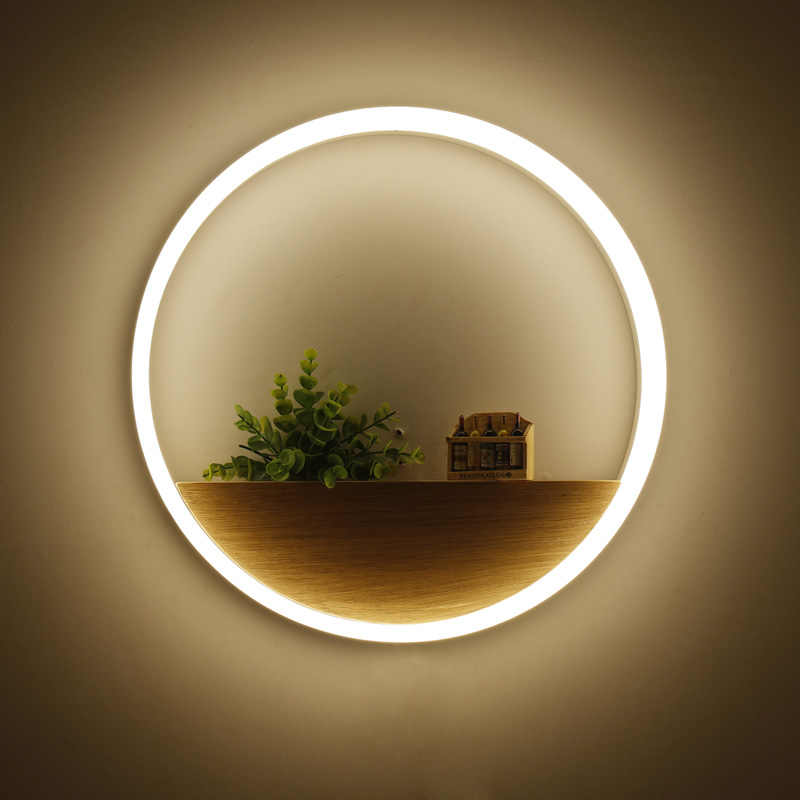 Modern LED Wall lights for bathroom aluminum hardware acrylic lampshade rings design Decoration indoor home lamp diameter 40CM