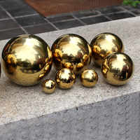 120-480mm Stainless Steel Titanium Gold Hollow Ball Mirror Polished Shiny Sphere for Outdoor Home Garden Decoration Supplies