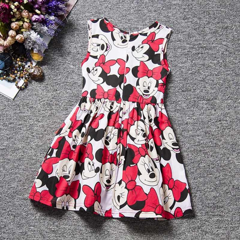 Cartoon Baby Minnie Mouse Girl Dress Clothing Birthday Party Princess For Kids