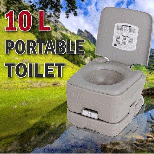 ФОТО 10L Outdoor Portable Camping Toilet Caravan Travel Camp Boating Fishing 50 Flush Fishing Chair