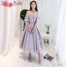 Customized Plus Size Lace Appliqued Evening Dresses 2017 New Boat Neck Half Sleeved Ankle-length Party Prom Dress Robe De Soiree