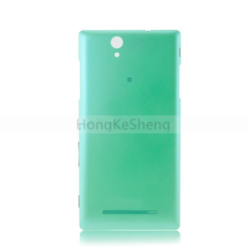 OEM Back Cover with buttons <font><b>Battery</b></font> Cover Replacement for Sony Xperia <font><b>C3</b></font> S55T S55U D2502 D2503 D2533