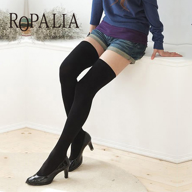 4a366e50491 ROPALIA Sexy Women Stockings Hosery Female Thigh High Over the Knee Socks  Cotton Stockings