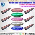 Free shipping 6pcs/lot IP65 led linear light RGBW 12x10w led wall washer light