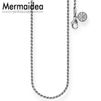 91d0ff5292e2 Karma Wheel Wire Cable Chain Necklace 2019 Fashion Jewelry Fit Karma Beads  Party 925 Sterling Silver