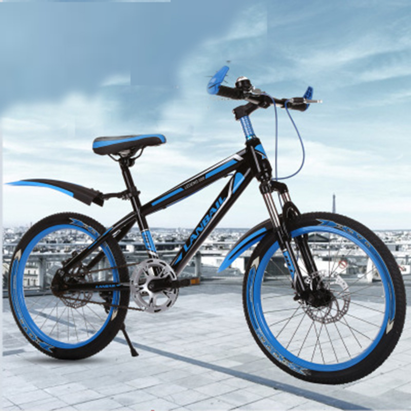Bicycles High-Grade Mountain Bike 18-Inch Shock Absorber Two-Disc Brake Children's Bicycle Bicycle Road Bicycle