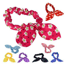 Best Price! Lovely Mini Small Bunny Rabbit Ears Headband Hair Rope Rubber Bands Cloth Material tiara il 2018 Vicky(China)