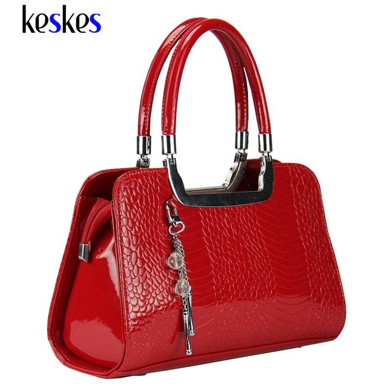 Fashion Women Handbags Luxury Medium Women Shoulder Bags Patent Leather Women Bags 2017 New Beading Women Messenger Bags ZCP124
