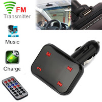Auto High Quality BT X6 Wireless Hands Free USB Charge LED MP3 Bluetooth Car FM Transmitter
