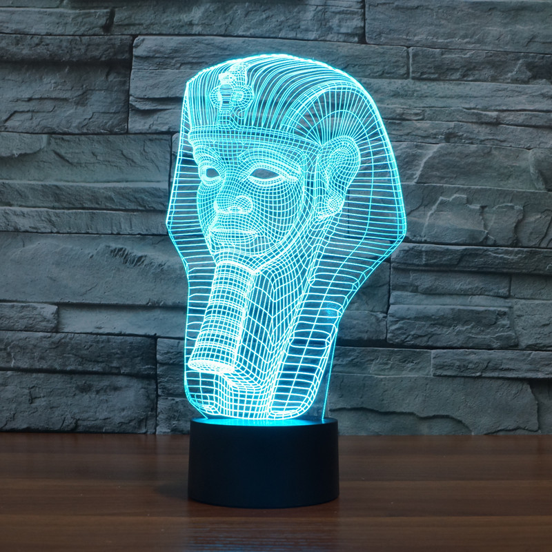2016 new 3D lights colorful touch LED visual light gift decorative atmosphere