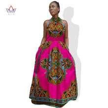f2b6a3d3b3759 African Dresses for Women Bazin Riche African Dress Sleeveless Out Off  Shoulder Maxi Dress A-Line African Women Clothing WY879