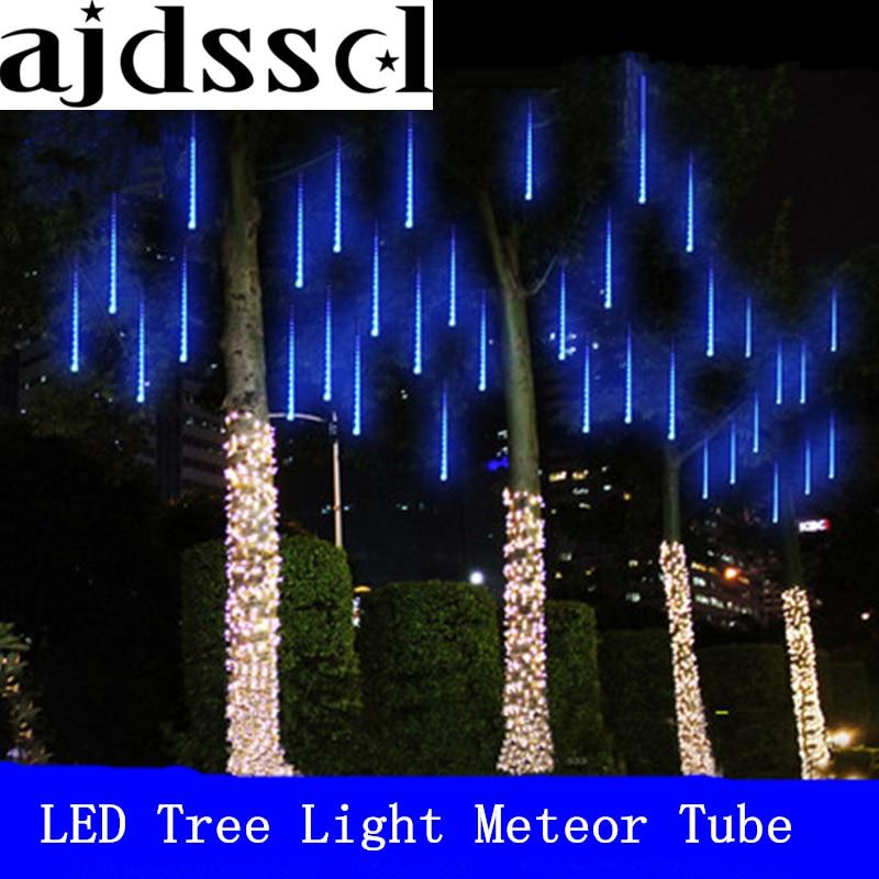 50cm 30cm 20cm waterproof Meteor Shower Rain Tubes Led Light 110-240V EU US Plug Christmas Light Wedding Garden Decoration Xmas