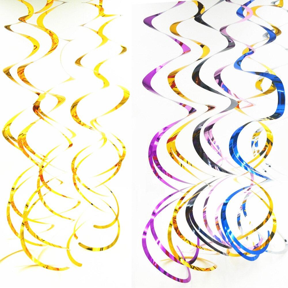 18 шт./компл. 70 см спираль кулон фольга линия для дня рождения Свадебные Воздушные шары-гирлянды подвесные украшения товары для рождественск...