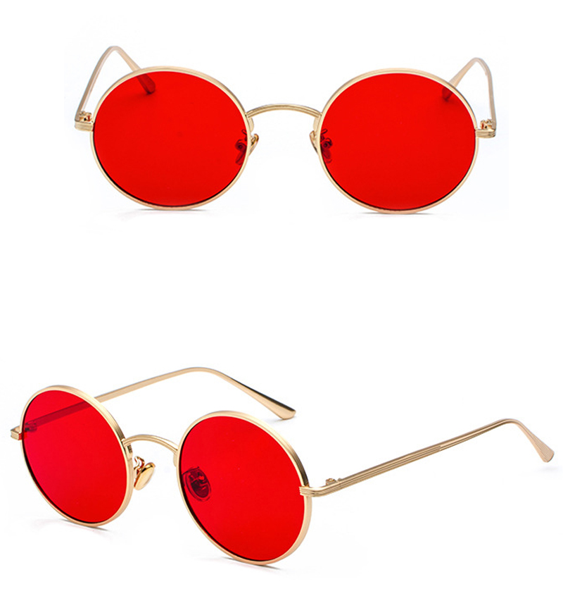 women sunglasses with red lenses detail (7)