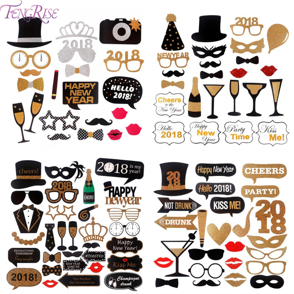 FENGRISE Vjenčanje Dekoracija Zabava Foto Booth rekviziti Photobooth - Za blagdane i zabave - Foto 6