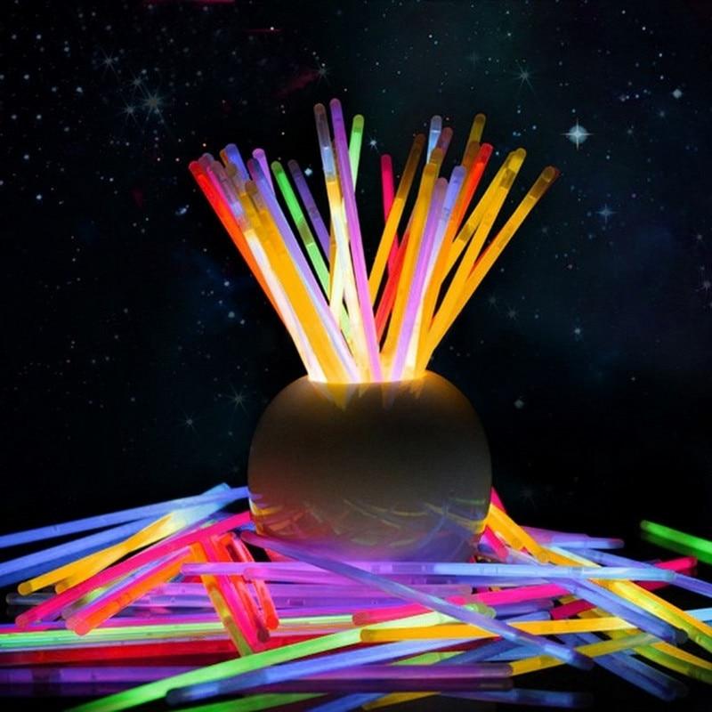 100Pcs Multi-Color Lightstick Float Fluorescent Lightstick Light Night Float Rod Lights Dark Glow Stick for Party T0.3100Pcs Multi-Color Lightstick Float Fluorescent Lightstick Light Night Float Rod Lights Dark Glow Stick for Party T0.3