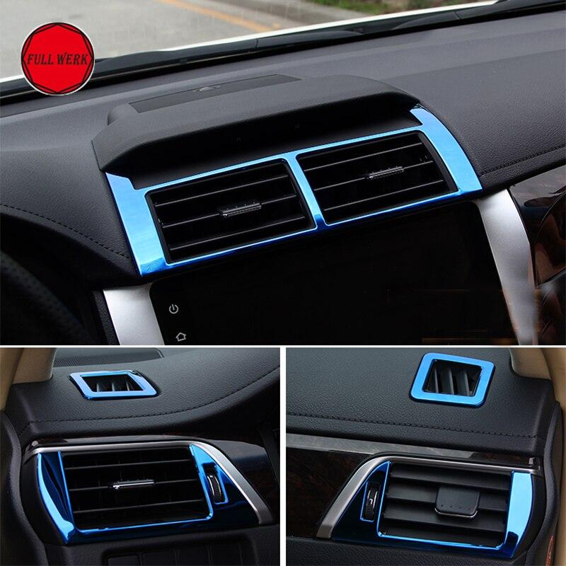 Набор из 5 шт SS Автомобильная вентиляционная Выпускной обшивка для Toyota Camry 2012 2015 декоративная рамка наклейка протектор авто модифицированны
