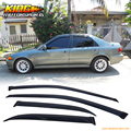 For 98-02 Honda Accord 4Dr Sedan Window Visor Vents Deflector Rain Guard 4Pcs Slim