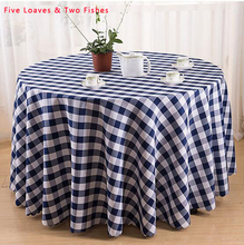 Hot Sale Hotel Lattice Tablecloth High Quality Restaurant Hotel Round Table Cloth Washed Thick Tablecloths Wedding Table Cover