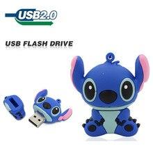 New fashion USB Flash Drive 64GB 32GB 16GB 8GB 4GB 2GB cartoon Stitch Pen drive flash card Memory stick lovely U Disk pendrive