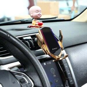 Image 5 - Qi Drahtlose Auto Ladegerät 10W Schnelle Lade Halter Kompatibel Automatische Spann Schnelle Lade Telefon Halter Halterung Für Smartphone