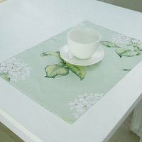 Illustration Flower Dining Table Mats Kitchen Tool Tableware Coffee Tea Place Mat Glass Cup Pad Coaster