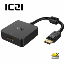 ICZI 4K DisplayPort to HDMI Adapter Support Passive or Active Gold plated DP to HDMI Adapter