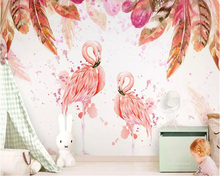 beibehang Custom silk cloth wallpaper Nordic minimalist fashion flower childrens room decoration wall papers home decor behang