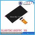 Nuevo 7 ''pulgadas LCD Pantalla de Matriz TABLET SL007DC105FPC V0 163*97mm Panel de la Pantalla TFT Lcd Marco reemplazo Del Envío Libre