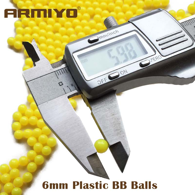 Armiyo 1000 Pieces Airsoft 6mm BB Balls Ammo Tactical Hunting Shooting Practice BB Bullets Paintball Rubber Polished Pellets