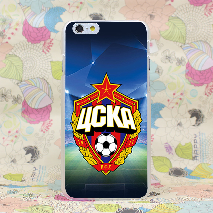 385HJ Football Field CSKA Moscow Hard Transparent Case Cover for iPhone 4 4s 5 5s SE 5C 6 6s Plus 7 7 Plus