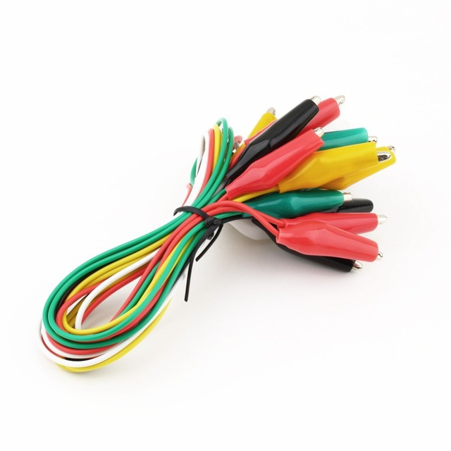 Alligator Clips Electrical DIY Test Leads Alligator Double ended ...