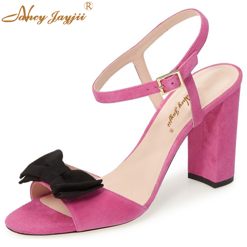 Nancyjayjii Summer Famous Brand Women Sexy High Heels Genuine Leather Shoes Platform Sandals Party&Casual Woman Bowtie Shoes woman fashion high heels sandals women genuine leather buckle summer shoes brand new wedges casual platform sandal gold silver