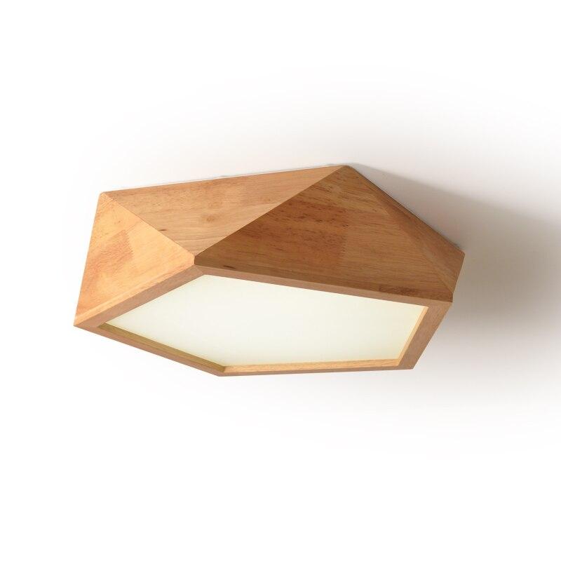 US $222.0 |Neue schlafzimmer lampe einfache moderne holz neue wohnzimmer  lampe led japanischen massivholz lampe nordic log geometrische ...