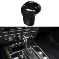 100% Real Carbon Fiber Gear Shift Knob Decorator Cover Trim For Audi A5 2013 17 & A4 B8 13 16 & A6 C7 12 15 & A7 12 15