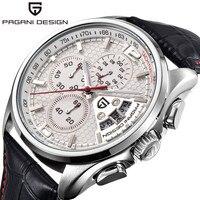 PAGANI TASARıM erkek Chronograph Saatler Üst Marka Lüks Su Geçirmez Spor İzle Deri Kuvars kol saati Saat relojes