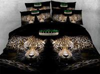3d bedding queen size comforters bedspread bed covers sheets twin full king size woven 500TC Leopard Animals boy's Adult Bedroom