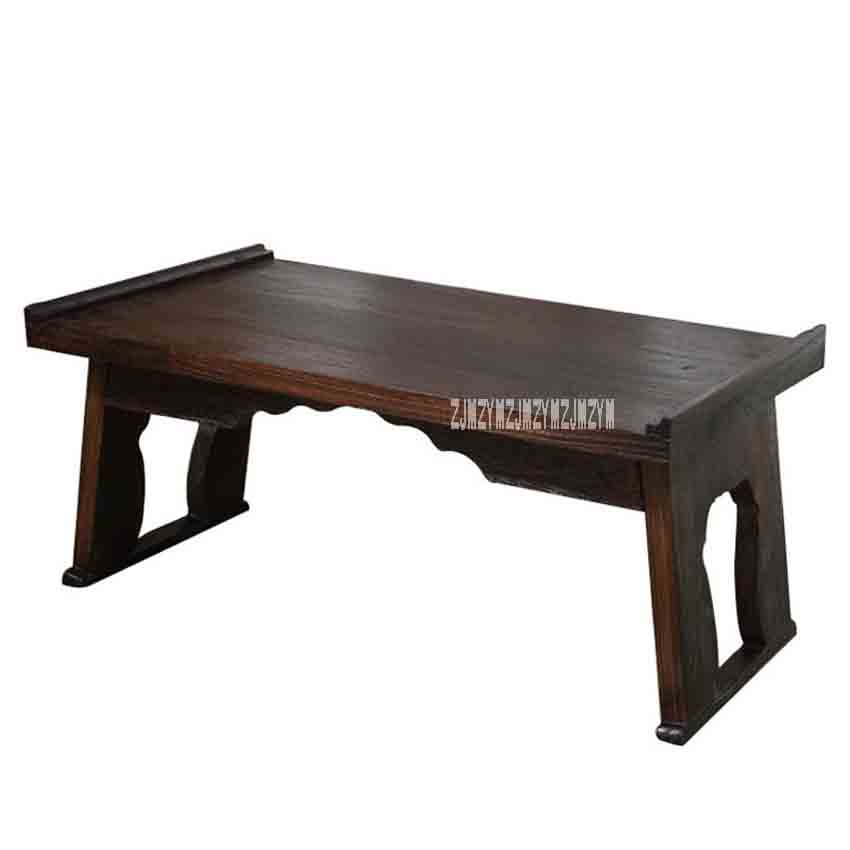 Café Furniture Japanese Style Antique Small Tea Table Folding Legs Rectangle Paulownia Wood Traditional Asian Furniture Living Room Low Table